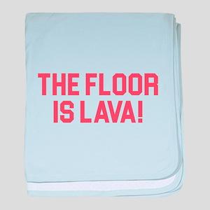 Floor is Lava baby blanket
