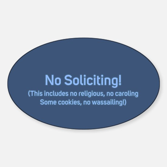 No Soliciting Winter 2 Decal