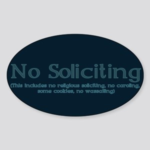 No Soliciting Winter 1 Sticker