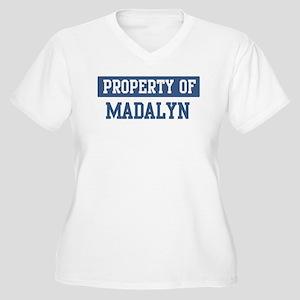 Property of MADALYN Women's Plus Size V-Neck T-Shi