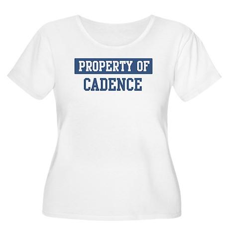 Property of CADENCE Women's Plus Size Scoop Neck T