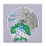 Angora Goat Baby's First Tile Coaster