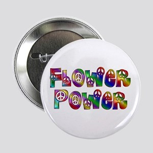 """Colorful Flower Power 2.25"""" Button"""
