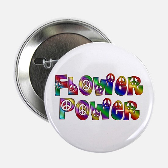 "Colorful Flower Power 2.25"" Button"