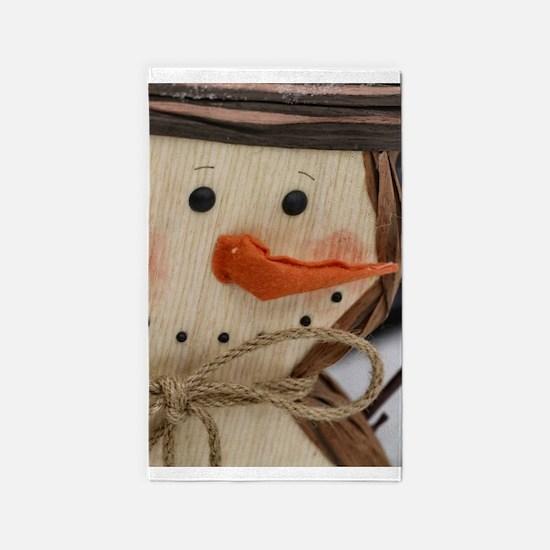 Cute Snowman Area Rug