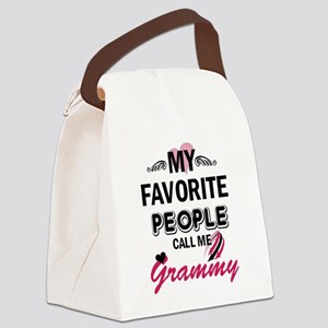 My Favorite People Call Me Grammy Canvas Lunch Bag