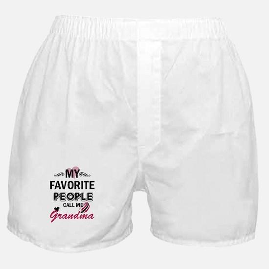 My Favorite People Call Me Grandma Boxer Shorts