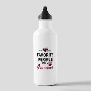 My Favorite People Call Me Grandma Sports Water Bo