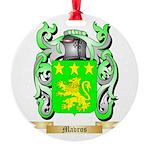 Mavros Round Ornament