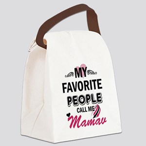 My Favorite People Call Me Mamaw Canvas Lunch Bag