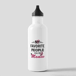My Favorite People Call Me Mamaw Sports Water Bott