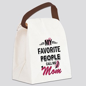 My Favorite People Call me Mommy Canvas Lunch Bag