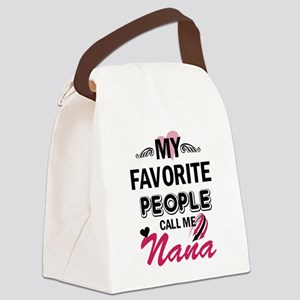 my fovorite, people call me nana Canvas Lunch Bag