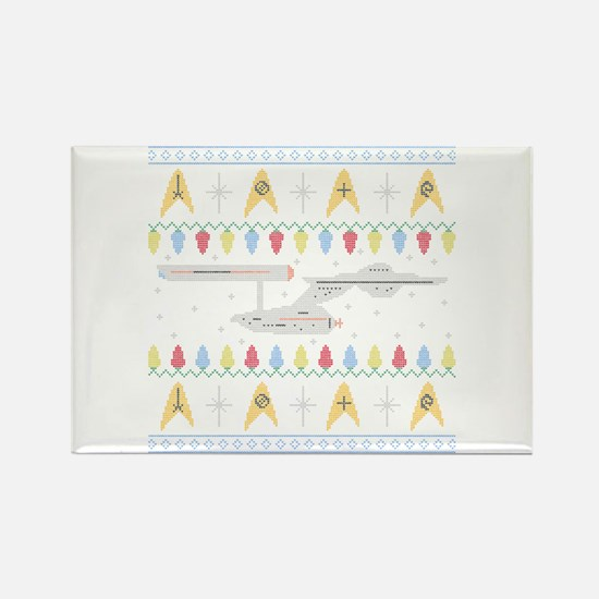 Star Trek: TOS Ugly Sweater Rectangle Magnet