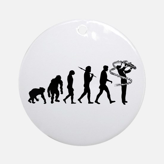 Saxophone Player Round Ornament