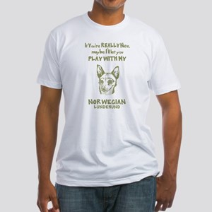 Norwegian Lundehund Fitted T-Shirt