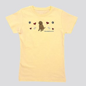 labradoodle chocolate Women's Dark T-Shirt
