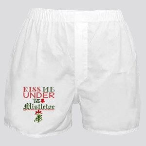Kiss Me Under the Mistletoe Boxer Shorts
