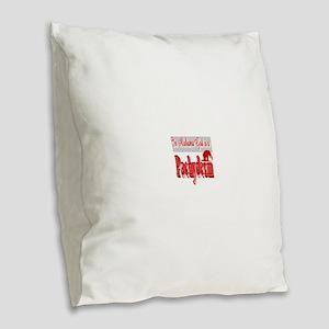 In Alabama God is a Pachyderm Burlap Throw Pillow