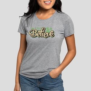 Believe Christmas Womens Tri-blend T-Shirt