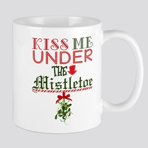 Kiss Me Under the Mistletoe Mugs