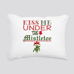 Kiss Me Under the Mistle Rectangular Canvas Pillow