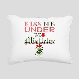 Kiss Me Under the Mistle Rectangular Canvas Pillow
