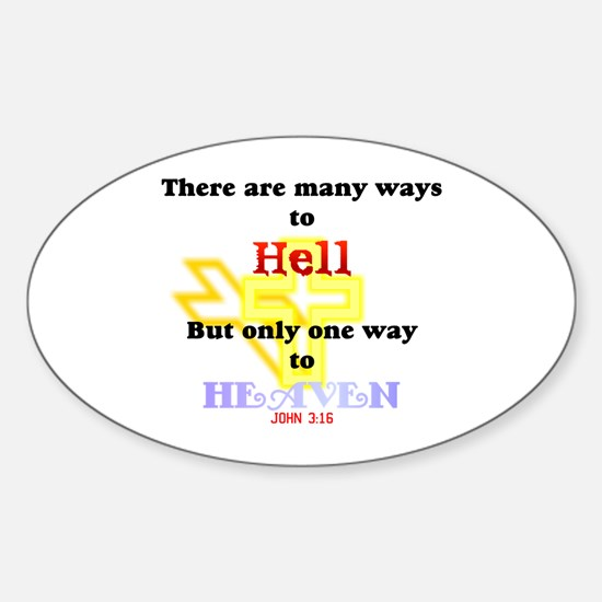 Way to Heaven Oval Decal