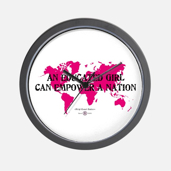 An Educated Girl Can Empower Wall Clock