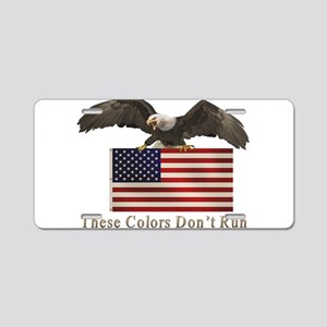 dont_run_eagle3 Aluminum License Plate
