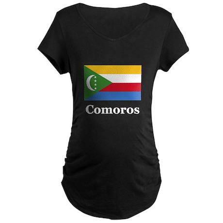 Comoros Maternity Dark T-Shirt