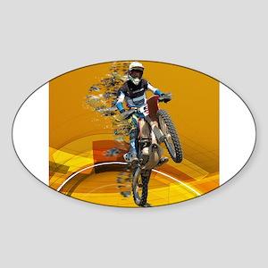 Motocross Wheelie in Pieces Abstract Deser Sticker