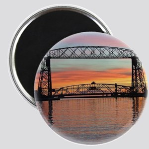 Sunrise Under The Bridge Magnets