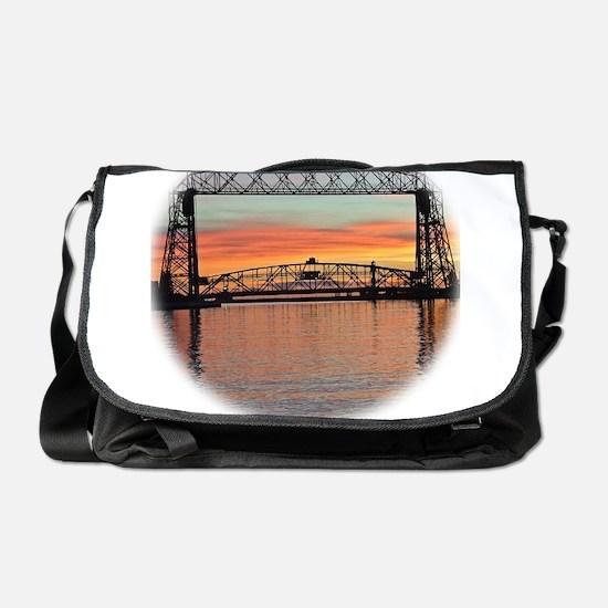 Sunrise under the Bridge Messenger Bag