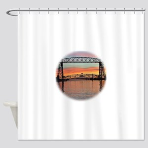 Sunrise under the Bridge Shower Curtain