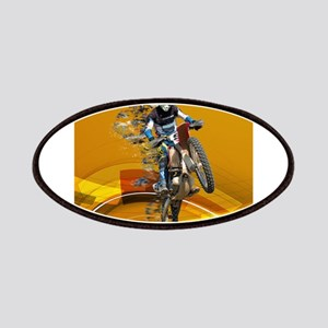 Motocross Wheelie in Pieces Abstract Desert Patch