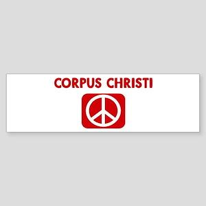 CORPUS CHRISTI for peace Bumper Sticker