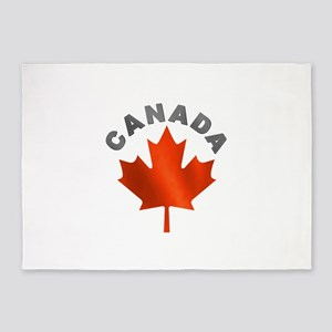 MAPLE_LEAF_CAN 5'x7'Area Rug