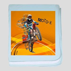 Motocross Abstract Desert TEXT MOTO_X baby blanket