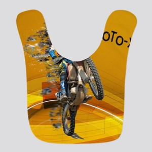 Motocross Abstract Desert TEXT MOTO_X Bib