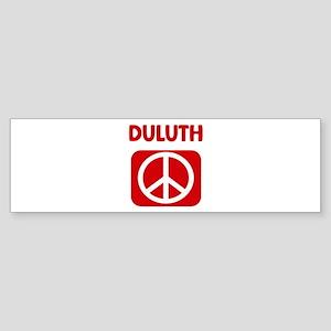 DULUTH for peace Bumper Sticker