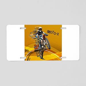 Motocross Abstract Desert T Aluminum License Plate