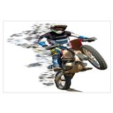 Dirt bike Wrapped Canvas Art