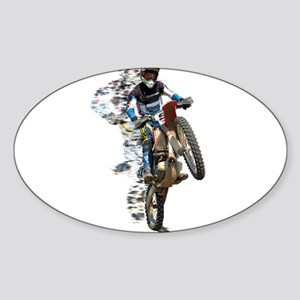Motocross with Flying Pieces Sticker