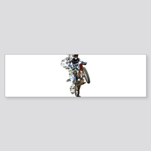 Motocross with Flying Pieces Bumper Sticker