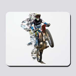 Motocross with Flying Pieces Mousepad