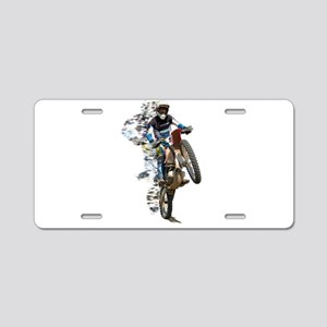 Motocross with Flying Piece Aluminum License Plate