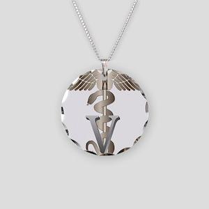 vet11_d Necklace Circle Charm