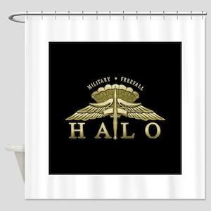 halo2_emb Shower Curtain