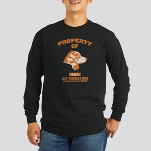 Miniature Australian Shepherd Long Sleeve Dark T-S